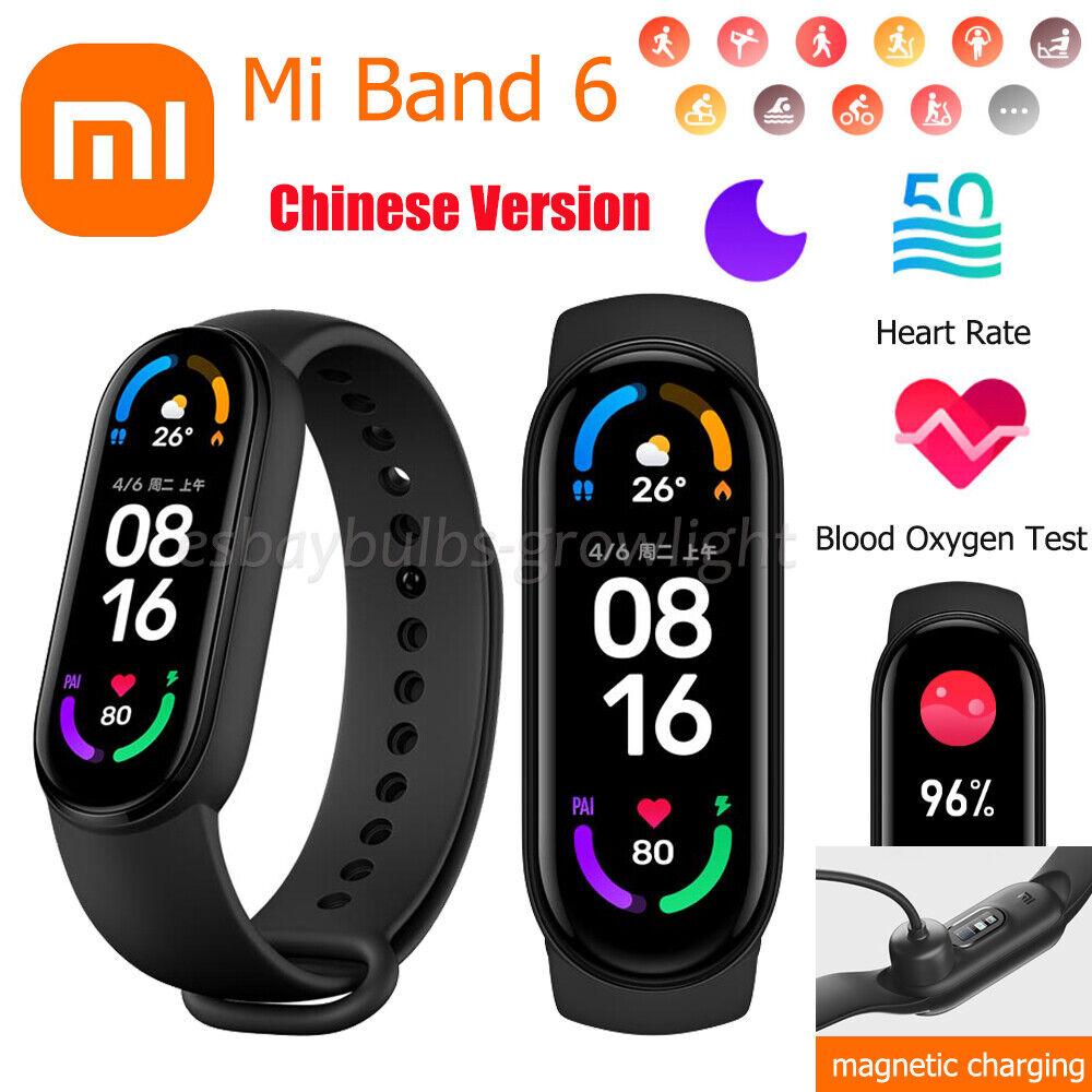 Xiaomi Mi Band 6 Blood Oxygen Fitness Tracker Heart Rate Sports Monitor Bracelet band blood fitness heart monitor oxygen rate sports tracker xiaomi