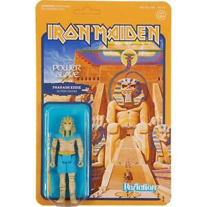 Iron Maiden Power Slave Pharaoh Eddie Mascot Figur Reaction 3 3/4 Inch Funko