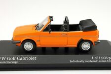 VW GOLF 1 GL CABRIOLET 1980 MANDARIN ORANGE RABBIT MINICHAMPS 400055131 1/43