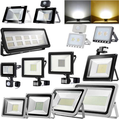LED Floodlight PIR Sensor Motion 10//20//30//50//100W Security Flood Light Warm Cool
