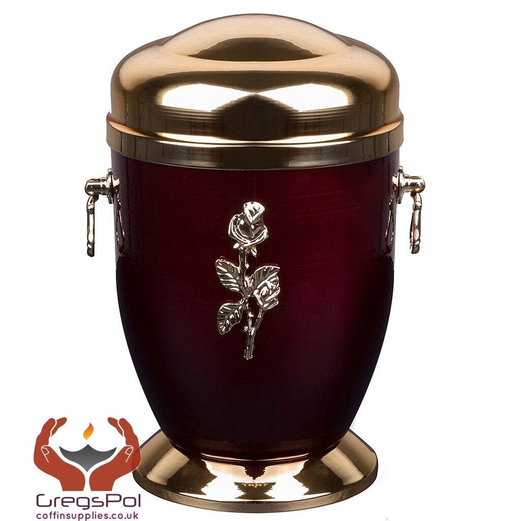 EXCLUSIVE METAL Crémation Urne Pour rose Cendres avec rose Pour adulte Crémation Memorial Urne 917cf4