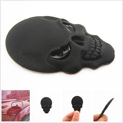 Black Stereoscopic Skull Head Emblem Logo Vehicle SUV Dody Sticker For Off-Road