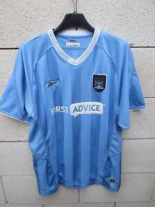 Maillot-MANCHESTER-CITY-REEBOK-shirt-bleu-ciel-M-C-F-C-football-jersey-M