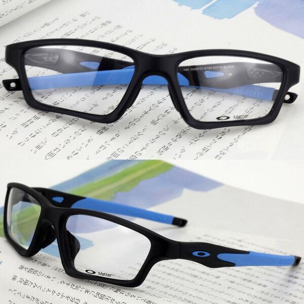 c6de034331 ... sweden oakley ox8031 0155 crosslink sweep eyeglasses satin black blue  55mm ebay 3447a 60672