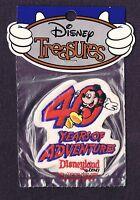 Lmh Patch Badge Mickey Mouse Disneyland 40 Years Adventure World Walt Disney