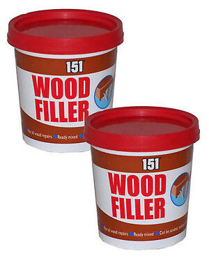 2 x WOOD FILLER READY MIXED FOR ALL WOOD REPAIRS 600g