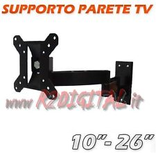 "SUPPORTO TV STAFFA PARETE 16 17 19 20 22 24 23 25 26 "" POLLICI LCD LED 3D PLASMA"