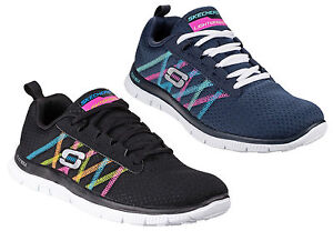 93b107b0fed7 Image is loading Skechers-Sports-Flex-Appeal-Something-Fun-Womens-Trainers-