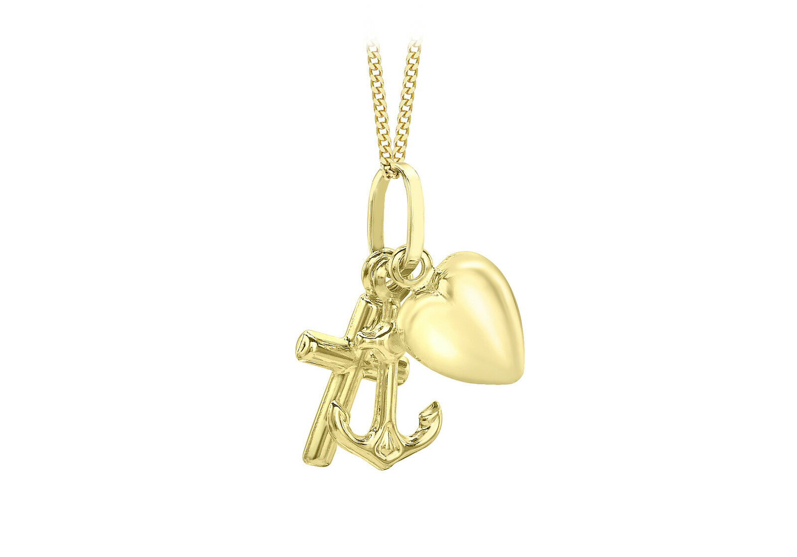 e4410b2f8a9be 18 on Pendant Faith gold Yellow 9ct Hope Box Gift Luxury Inc Chain ...
