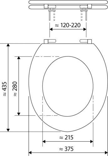 WC-Sitz Toilettensitz Klositz Klobrille Venezia weiß weiss Holzkern Neuware Neu