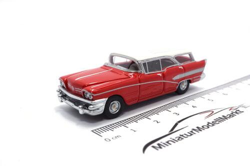 #87120 bos-models buick century caballero-rojo//blanco 1958-1:87