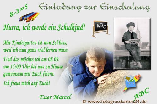 Kuverts Einladungskarten Schulanfang Einladungen Einschulung Schule  Foto
