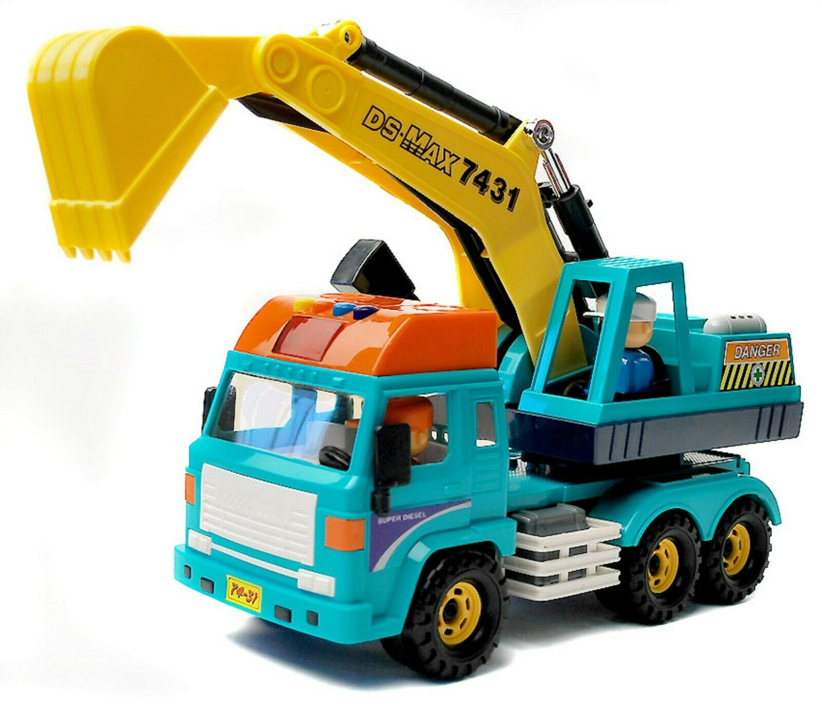 Daesung Toys Melody Forklift Crane Truck with Driver Figure Car Vehicle Construc