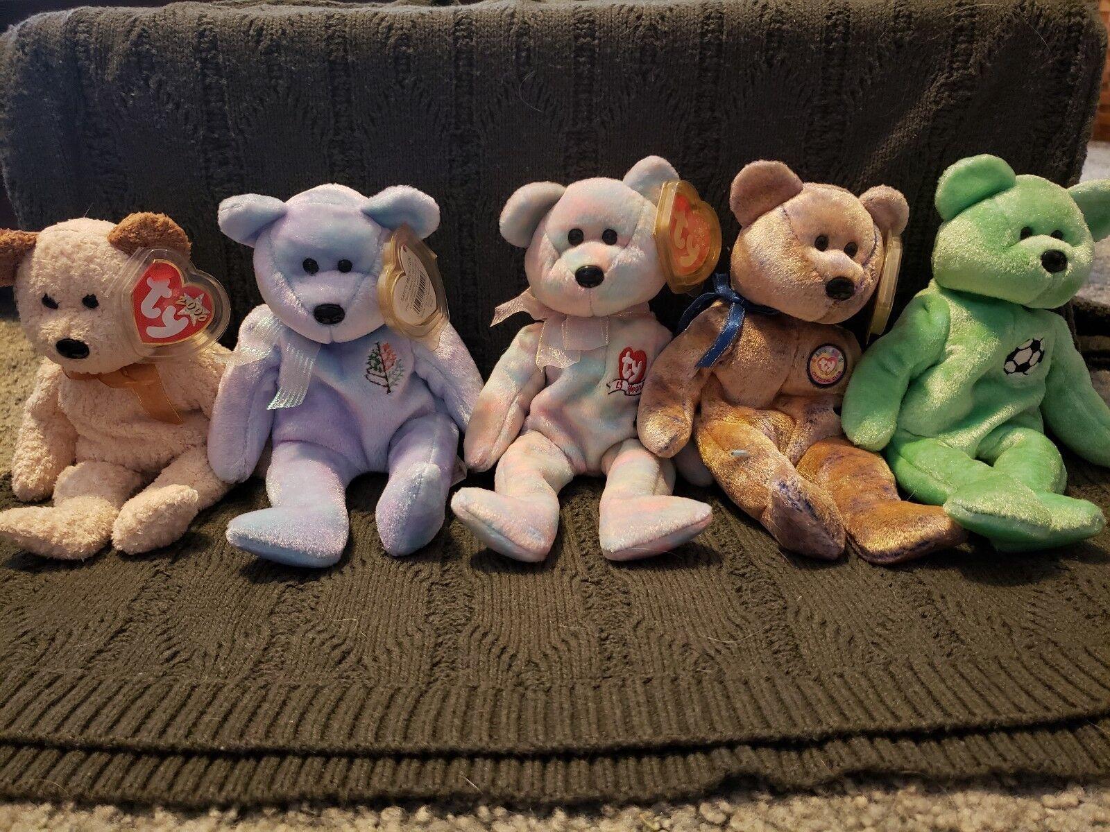 TY Beanie Babies - Lot Of 28 Bears - - - Includes Princess Diana Bear b47e5e