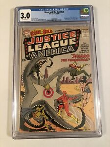 The-Brave-And-The-Bold-28-CGC-3-0-OW-Pages-Justice-League-Batman-Flash-Superman