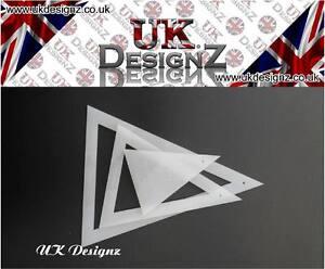 isosceles acrylic bunting flag template set triangle template