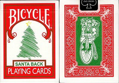 Santa Back 2 Deck Set Red /& Green Bicycle Playing Cards Poker Size USPCC Limited