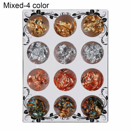 12pcs Decor Resin Mold Fillings Gold Flakes for Resin Gold Leaf Flake Gold Foil