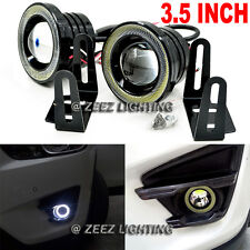 "3.5""LED COB Projector Fog Lamp DRL Halo Ring Angel Eye Daytime Running Light C16"