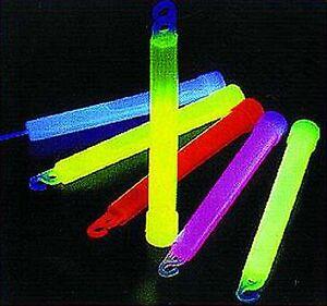 Knicklichter 15cm 100er-Pack - je 20 gelb, rot, grün, blau, pink