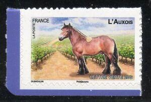 STAMP-TIMBRE-FRANCE-AUTOADHESIF-N-823-FAUNE-CHEVAUX-DE-TRAIT-DE-NOS-REGION
