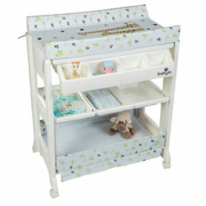 Details About Baby Changer Unit Table Portable Nursery Changing Station Bath Mat And Storage