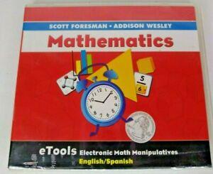Scott-Foresman-Addison-Wesley-Math-eTools-CD-Rom-Grade-Kindergarten-to-6th