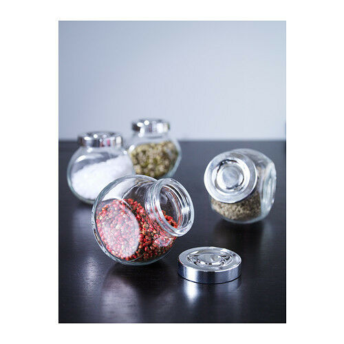 Gewürzglas  Vorratsgläser Glas Behälter 4er Set je 200 ml Gewürzglas 4 x 200 ml