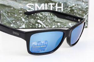1153c61613f Image is loading NEW-SMITH-WOLCOTT-SUNGLASSES-Black-frame-Blue-Mirror-