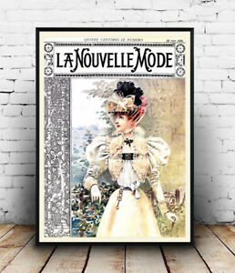 La-Nouvelle-Mode-Vintage-French-advert-Reproduction-poster-Wall-art
