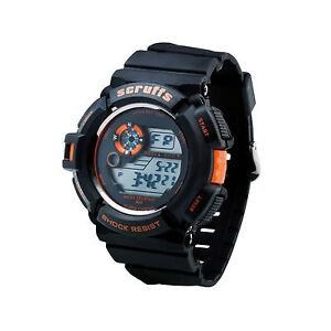 Scruffs Sports Digital Work Watch BLACK - Shock & Water Proof - T51415