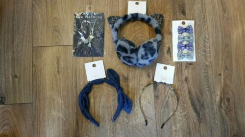 BUNDLE B NEXT girls hair accessories 75/% OFF RRP £37 Includes Leopard Earmuffs