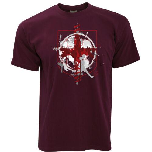 World Cup T Shirt England Flag Football Crest Of Arms Soccer League Sports