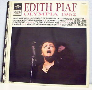 33-tours-Edith-PIAF-Disk-LP-12-034-OLYMPIA-1962-COLUMBIA-40213-F-Reduced-RARE