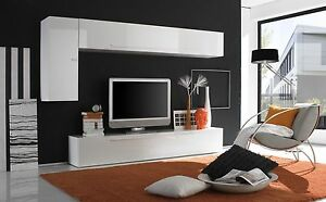 Dettagli su Parete Attrezzata Primo 709049E Mobile Porta TV da Soggiorno  Moderno Laccato