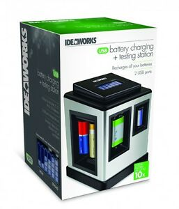 USB-Battery-Charging-Testing-Station-Charger-Charge-Regular-Rechargeable-Phone