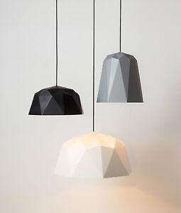 Enthousiaste Géométrique Lumière Pendentif-origami 3d Moderne-noir/blanc/gris-afficher Le Titre D'origine Design Professionnel