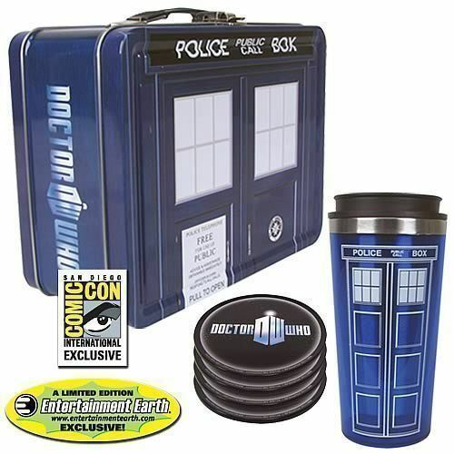 SDCC Exclusive NEW! Doctor Who TARDIS Tin Tote Gift Set