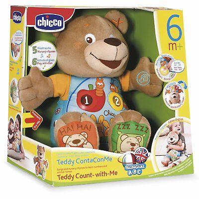 Chicco Teddy Conta Con Me Pupazzo Orsacchiotto Parlante Italiano E Inglese