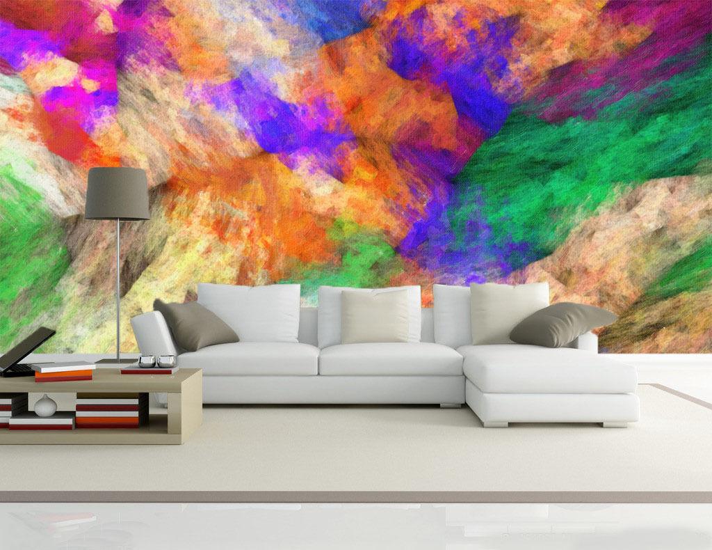 3D Farbeé Farbe 7 Photo Papier Peint en Autocollant Murale Plafond Chambre Art