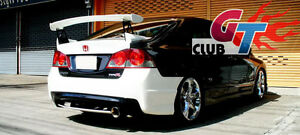 MUGEN GT STYLE REAR TRUNK WING SPOILER UNPAINTED FOR HONDA CIVIC 8th FD SERIES