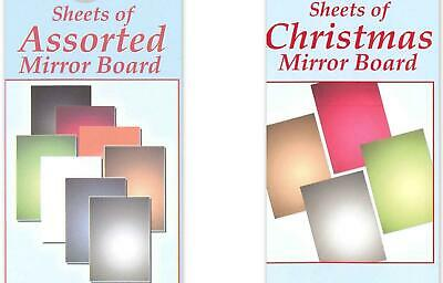 Wholesale 40 Sheets of Card Craft A4 Metallic 220 gsm Mirror Board