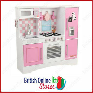 Image Is Loading KIDKRAFT CULINARY WOODEN PLAY KITCHEN PINK PASTEL KIDS