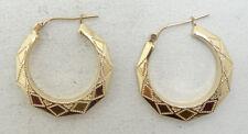 Faceted Hoop Earrings 14k Yellow Gold