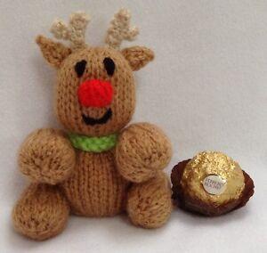 Christmas Knitting Patterns For Ferrero Rocher.Details About Knitting Pattern Christmas Rudolph Reindeer Choc Cover Fits Ferrero Rocher
