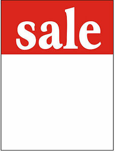 100-X-75mm-x-50mm-Sale-Price-Cards-Tags-Tickets-Labels-Without-Strung