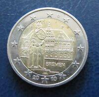 Deutschland 2010 2 Euro Bremen Rathaus und Roland Prägestätte F Umlauf
