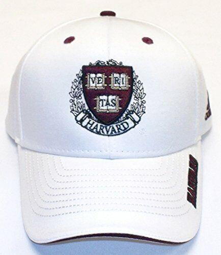 Harvard University White Adjustable Back Hat by Adidas 3