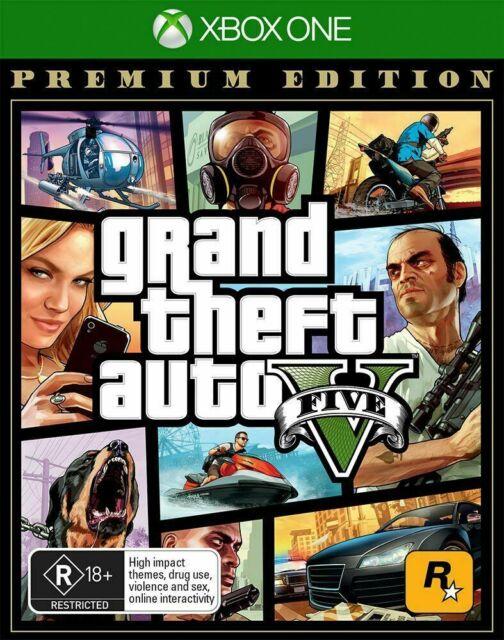 GTA Grand Theft Auto V 5 Premium Edition Xbox One Brand New Sealed