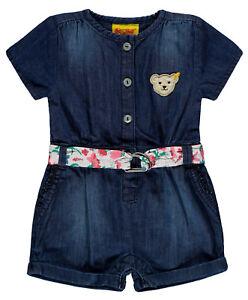 STEIFF-Maedchen-Jeans-Jumpsuit-Anzug-Overall-034-Wildflowers-034-92-116-S-2019-NEU